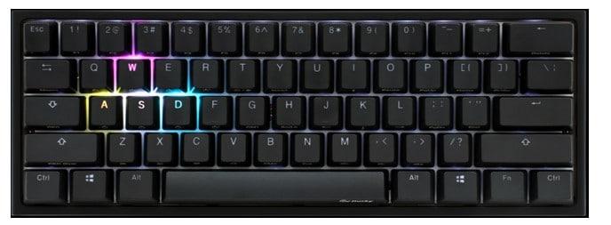 qué es un teclado 60%