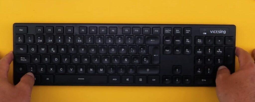 teclado victsing USB de cable